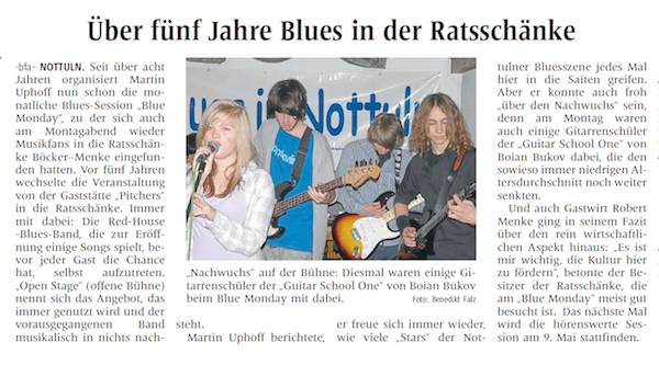 press about five years blues