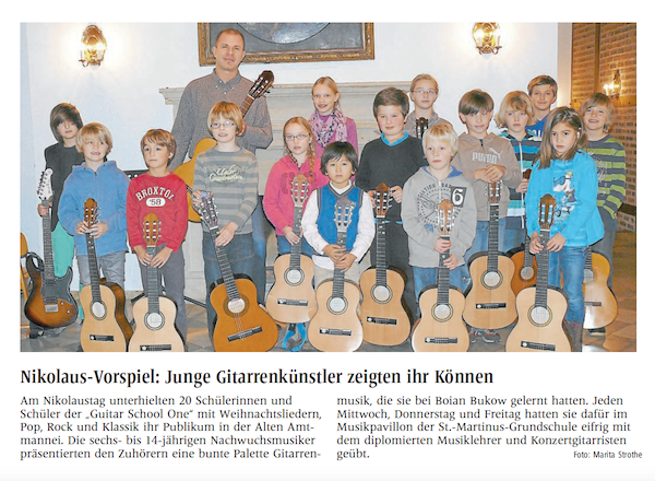 press about guitar concert