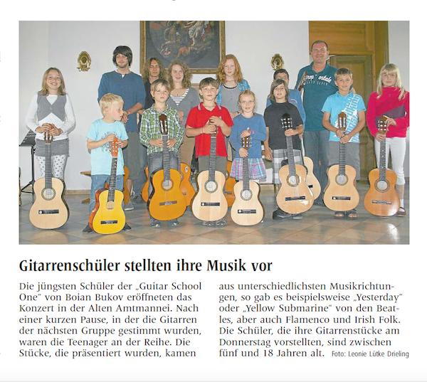 Gitarrenschüler stelten ihre Musik vor