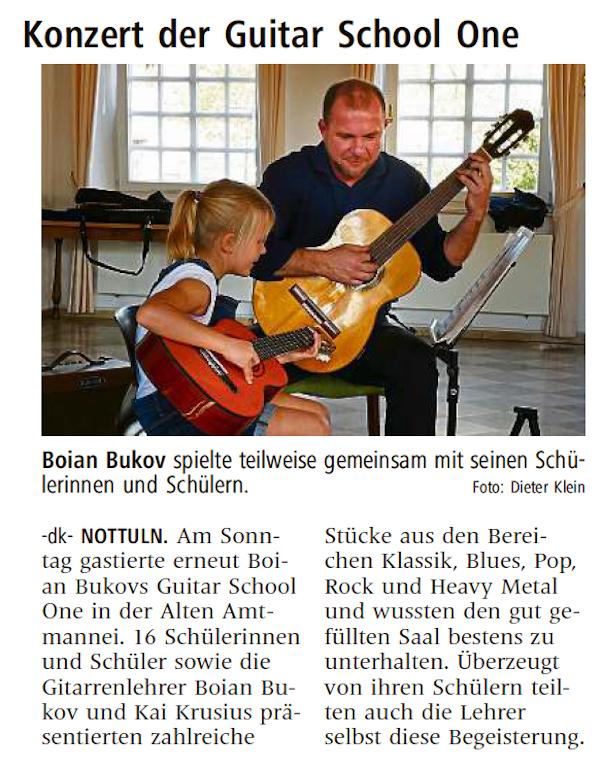 Konzert der Guitar School One