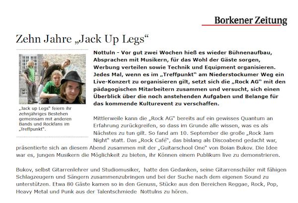 Zehn Jahre-Jack Up Legs