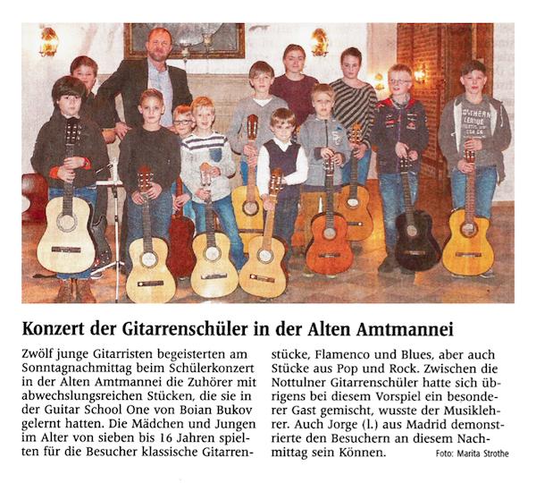 Konzert der Gitarrenschüler in der Alten Amtmannei