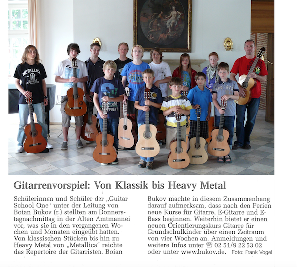 Gitarrenvorspiel-von Klassik bis Heavy Metal